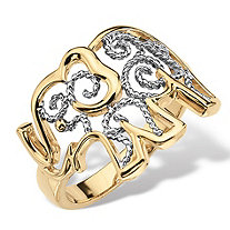Filigree Elephant Ring in 18k Gold-Plated