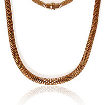Mesh Necklace in Rose Gold IP Stainless Steel