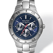 Men's Nautica Multi-Function Watch in Silvertone