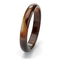 Genuine Brown Chalcedony Bangle Bracelet 9""