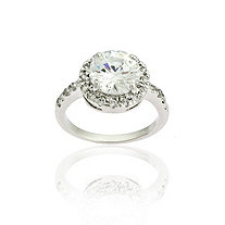 3.85 CTW Round Cubic Zirconia Ring in Sterling Silver