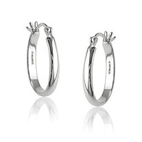 Hoop Pierced Earrings in Sterling Silver