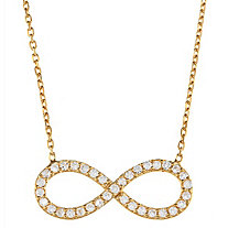 .24 CTW Cubic Zirconia Infinity Necklace in 14k Gold over Sterling Silver