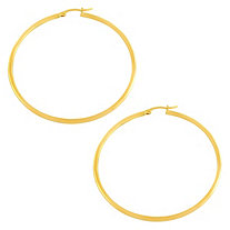 10k Gold Hoop Pierced Earrings