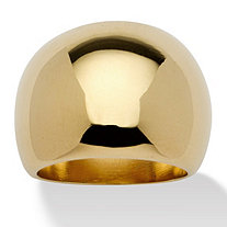 Dome 18k Gold-Plated Ring