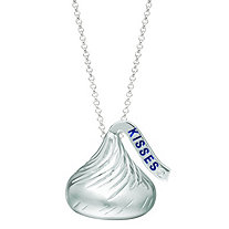 Diamond Accent Hershey's Kiss Pendant in Sterling Silver