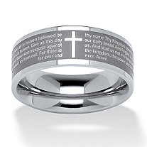 Lord's Prayer Ring in Stainless Steel