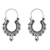 Openwork Scroll Earrings in Sterling Silver