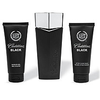 Cadillac Black for Men by Cadillac: 3.4 oz. EDT Spray, 3.4 oz. Shower Gel and 3.4 oz. After Shave
