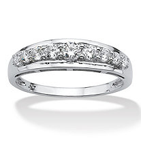 .92 TCW Round Cubic Zirconia Ring in 10k White Gold