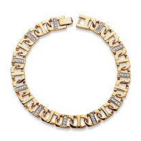 Men's 1.19 TCW Cubic Zirconia Mariner-Link Bracelet 14k Gold-Plated