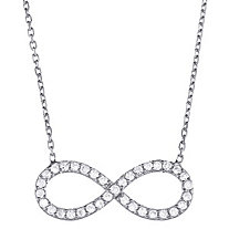 .25 TCW Cubic Zirconia Infinity Necklace in Sterling Silver