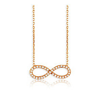 .25 TCW Infinity Necklace in Rose Gold-Plated