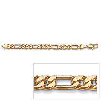 "Men's Figaro-Link Bracelet in Yellow Gold Tone 10"""