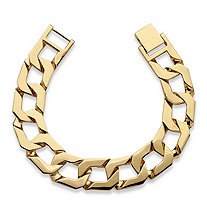 Men's Curb-Link Bracelet 18k Gold-Plated 10""