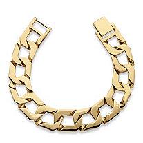 """Men's Curb-Link Bracelet 18k Gold-Plated 10"""""""