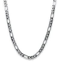 Men's Figaro-Link Chain in Silvertone 30""