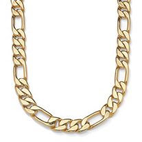 Men's Figaro-Link Chain in Yellow Gold Tone 30""