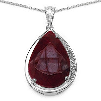 18.81 TCW Pear-Cut Ruby and White Topaz