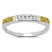 Diamond Accent Two-Tone Ring in 14k Gold over Sterling Silver