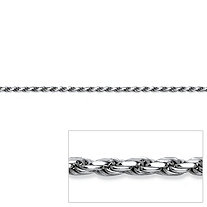 Rope Chain in Sterling Silver 24""