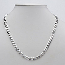 Figaro Link Necklace in Sterling Silver 20""