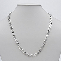 Figaro Link Necklace in Sterling Silver 22""