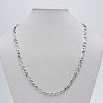 Figaro Link Necklace in Sterling Silver 24""