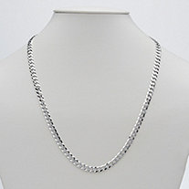 Curb Link Necklace in Sterling Silver 22""