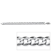 Curb Link Bracelet in Sterling Silver 8 1/4""