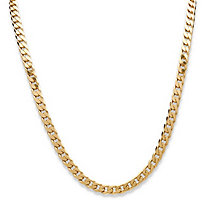 Curb Link Necklace in Sterling Silver 20""