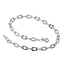 Link Ankle Bracelet in Sterling Silver 9 1/2""