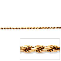 Rope Chain in 18k Gold over Sterling Silver 24""