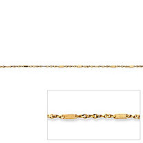 Singapore Link Chain in 14k Gold 18""