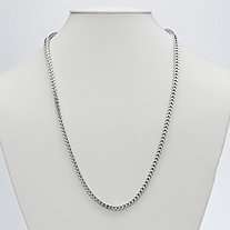 Franco Link Chain in Sterling Silver 24""