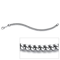 Franco Link Bracelet in Sterling Silver 8 1/2""