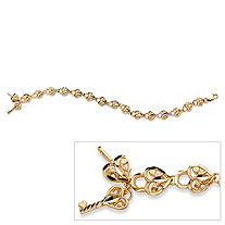 Heart Lock Bracelet in 10k Gold 7 1/2
