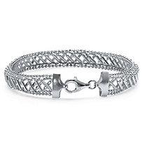 Woven Mesh Bracelet in Sterling Silver