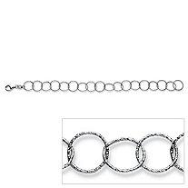 Circle Link Bracelet in Sterling Silver 7 1/2