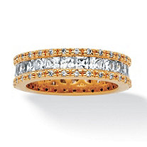 2.62 TCW Princess-Cut Cubic Zirconia Eternity Ring in 18k Gold-Plated