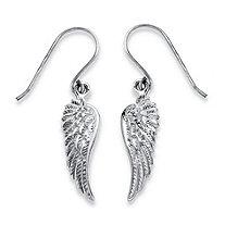 Wing Drop Earrings in Sterling Silver