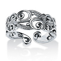 Ornate Scroll-Work Ring in Sterling Silver