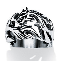 Men's Dragon Cut-Out Ring in Stainless Steel