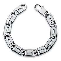 Men's Interlocking-Link Bracelet in Stainless Steel 81/2""