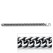Men's Curb Link Bracelet in Stainless Steel 81/2""