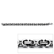 Men's Interlocking Link Bracelet in Stainless Steel 9""