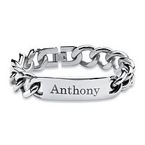 Men's Personalized I.D. Bracelet in Stainless Steel 9""