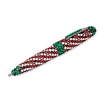 Red, White and Green Crystal Holiday Pen