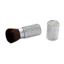 Aurora Borealis Crystal Encrusted Retractable Make-Up Brush