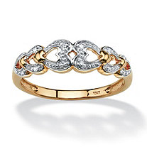 Diamond Accent Heart Ring in 10k Gold